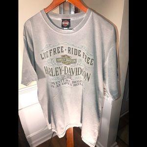 Harley davidson T Shirt live free ride free